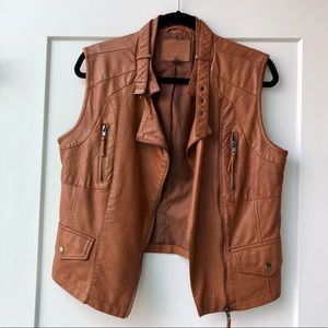 Chelsea and Violet Brown Leather Vest